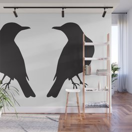 looking at a blackbird Wall Mural