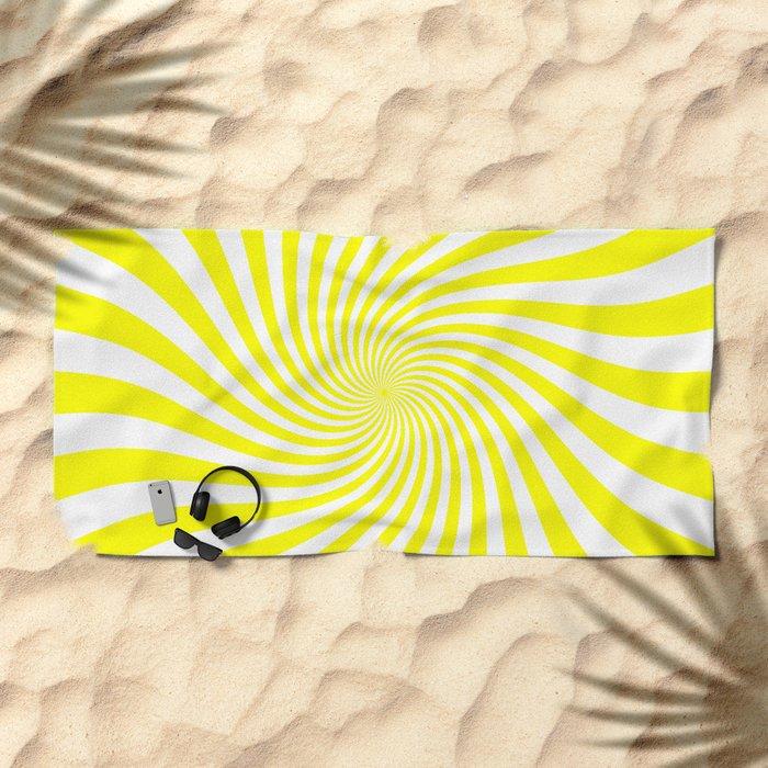 Swirl (Yellow/White) Beach Towel