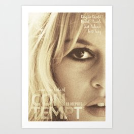 Brigitte Bardot, Contempt, movie poster, Le Mépris, Jean-Luc Godard, Fritz Lang, Art Print