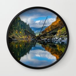 Rogue River Reflections Wall Clock