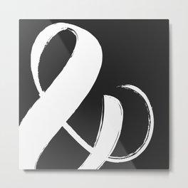 White ampersand Metal Print
