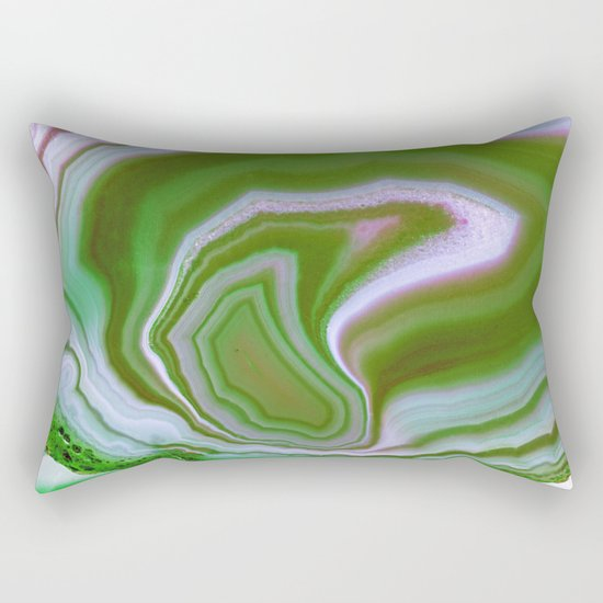 green colored agate Rectangular Pillow