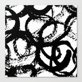 Dance Black and White Canvas Print