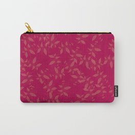 Pink flowers simple design | Nature Painting Vintage Floral Carry-All Pouch