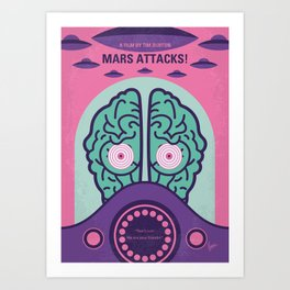 No1178 My Mars Attacks minimal movie poster Art Print
