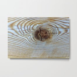 Wooden Knot Texture Metal Print