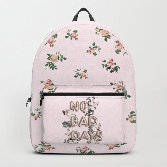 NO BAD DAYS - ROSEGOLD BALLOONS & ROSES Backpack