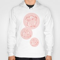 pig Hoodies featuring Pig by Toru Sanogawa