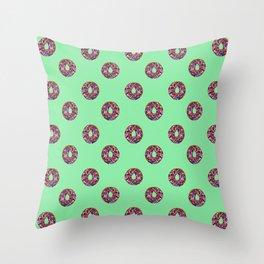 EAT ME ! donut polka dots Throw Pillow