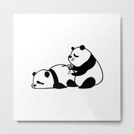 Love Hurts Panda Metal Print