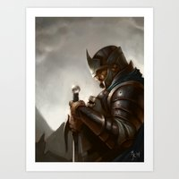 knight Art Prints featuring knight by Michael B. Myers Jr.