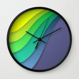 Colorful paper for background Wall Clock