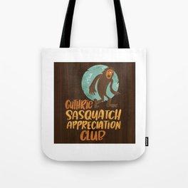 Guthrie Sasquatch Appreciation Club Sticker Art Tote Bag