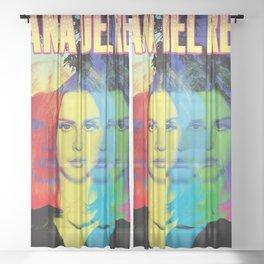lana del ray rainbow 2021 Sheer Curtain