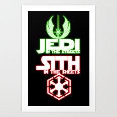 Jedi In The Streets Art Print