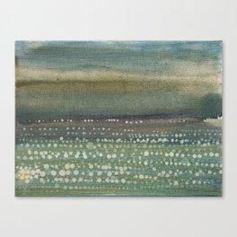 Landscape Dots- Blue Canvas Print
