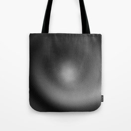 B&W Particle Spiral Tote Bag