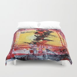 What the Hell - colorful abstract painting Duvet Cover