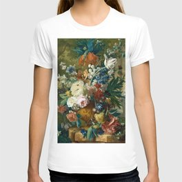 "Jan van-Huysum ""Flowers in a Vase with Crown Imperial and Apple Blossom"" T-shirt"