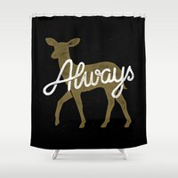 snape Shower Curtains featuring Always by WEAREYAWN