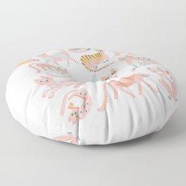 KittyKats - Pink Palette Floor Pillow