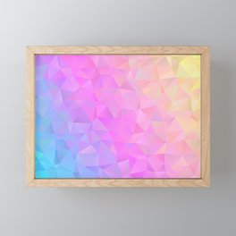 Unicorn Rainbow Sparkling Crystal Framed Mini Art Print