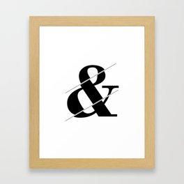 """""""Sliced Collection"""" - Minimal Ampersand Sign Print Framed Art Print"""