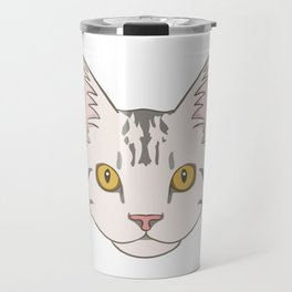 American Shorthair Head Cartoon Travel Mug