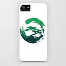 Green Bonsai in Enso iPhone Case