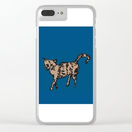 Animal Series - Scrappy Cat Clear iPhone Case
