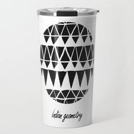 Indian geometry black Travel Mug