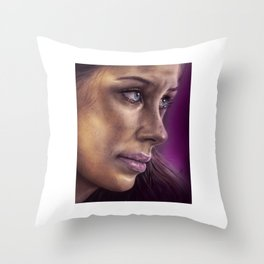 Evangeline Lily Drawing Throw Pillow