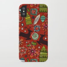 joyous jumble rust iPhone X Slim Case