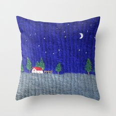 Night scenes Throw Pillow