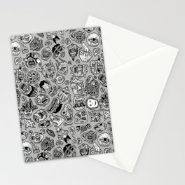 heaps of heads Stationery Cards