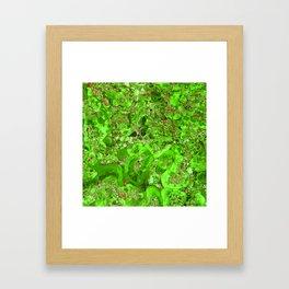 Marble Emerald Green Framed Art Print