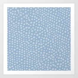 Polka Dot Pattern Baby Light Blue Art Print