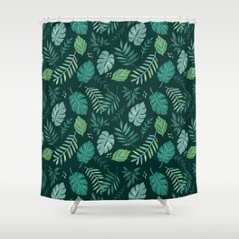 Leafy Palms Shower Curtain