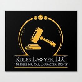 D&D - Rules Lawyer Canvas Print
