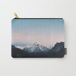 Blue & Pink Himalaya Mountains Carry-All Pouch