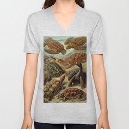 Sea Turtle Collage-Ernst Haeckel Unisex V-Neck