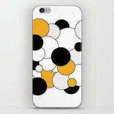 Bubbles - orange, black, gray and white iPhone & iPod Skin