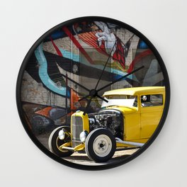 American Grafitti Wall Clock