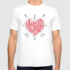 Greedy Love Mens Fitted Tee MEDIUM White