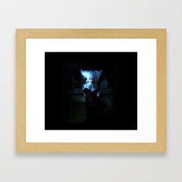 Blue Vamp Framed Art Print