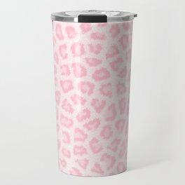 Girly blush pink white abstract animal print Travel Mug