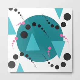 Blue Bubble Metal Print