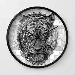 mandala tiger Wall Clock