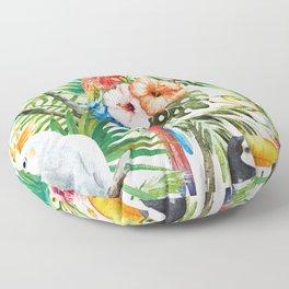 Tropical Bird Pattern 06 Floor Pillow