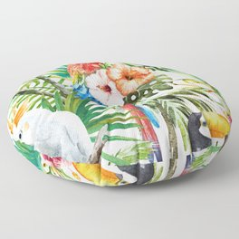 Tropical Bird Pattern 06 Floor Pillow